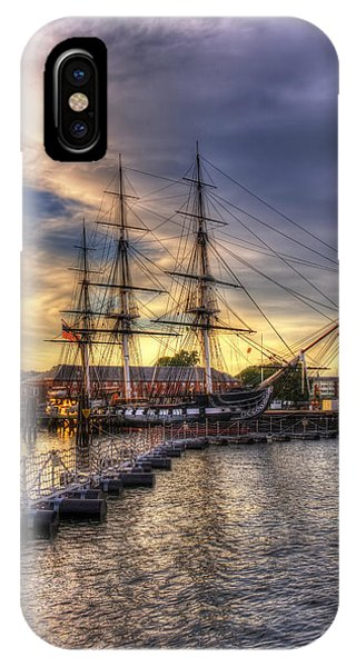 Uss Constitution Sunset - Boston IPhone Case