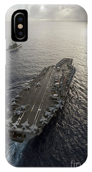 Uss George Washington And Uss Mobile IPhone Case
