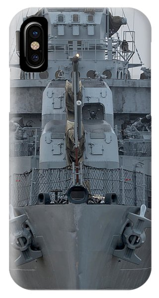 Uss Kidd Dd 661 Front View IPhone Case