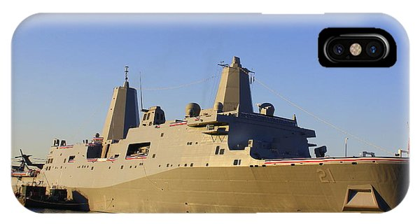 Uss New York - Lpd21 IPhone Case
