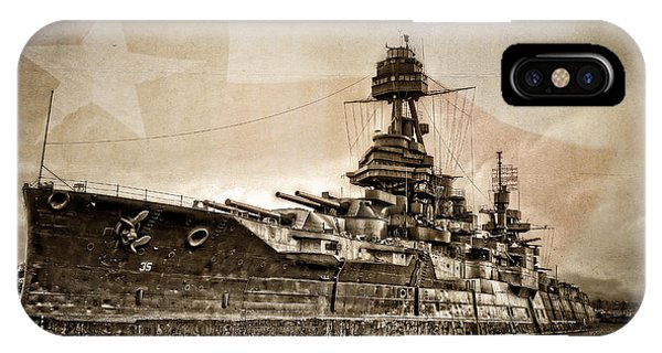 Wwi iPhone Case - U.s.s. Texas by Ken Smith