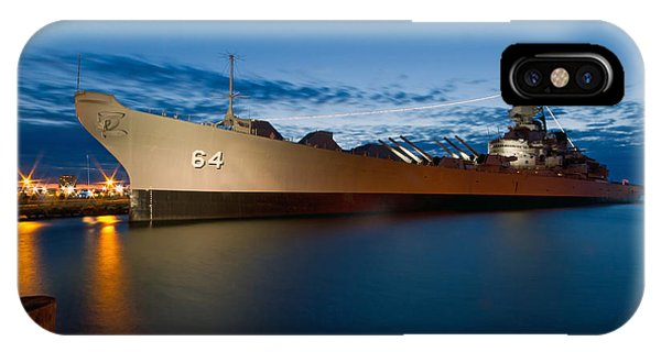 Uss Wisconsin At Sunset IPhone Case