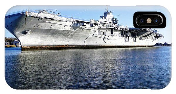 Uss Yorktown Aircraft Carrier Phone Case by Maurice Smith