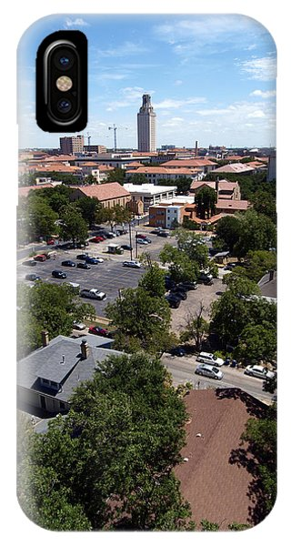 Ut Tower 2009 And Campus Area IPhone Case