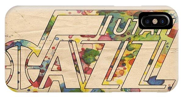 Utah Jazz Retro Poster IPhone Case