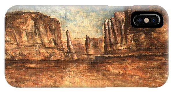 Utah Red Rocks - Landscape Art Painting IPhone Case