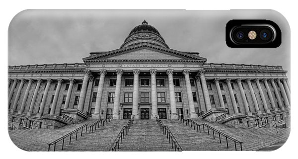 Michael iPhone Case - Utah State Capital Bw by Michael Ver Sprill