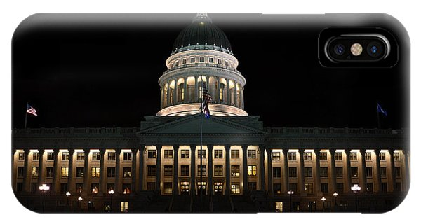 Utah State Capitol Front IPhone Case