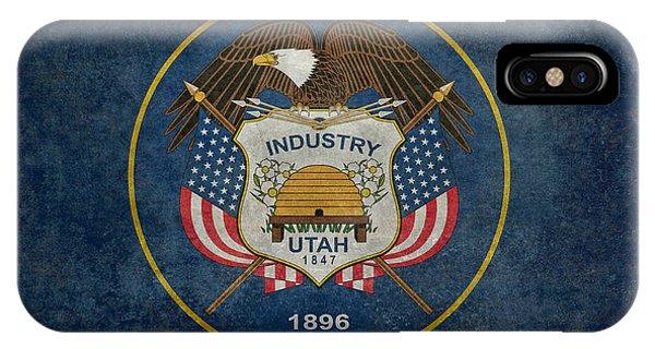 Utah State Flag Vintage Version IPhone Case