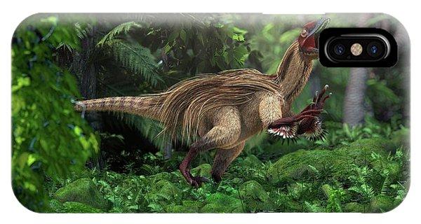 Utahraptor Dinosaur Phone Case by Roger Harris