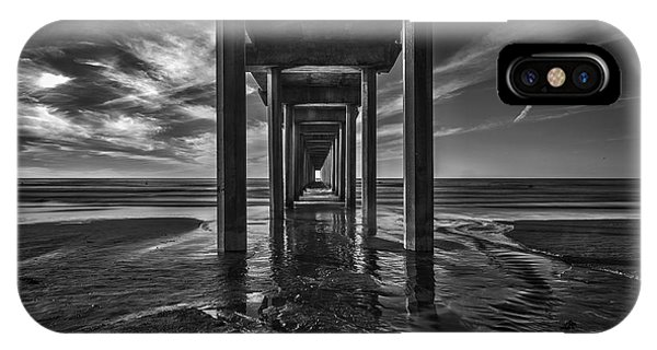 Scripps Pier iPhone Case - Uttered Madness by Peter Tellone
