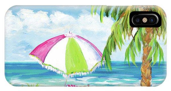 Beach Chair iPhone Case - Vacation Getaway by Julie Derice
