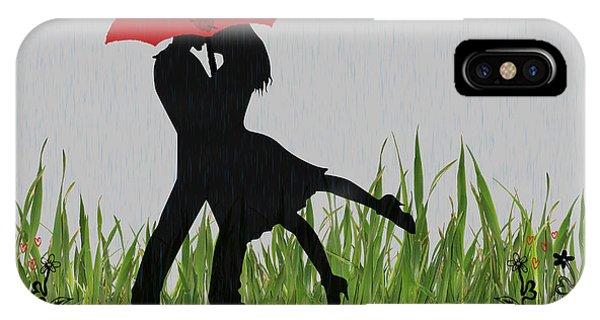Purple Rain iPhone Case - Valentine Card 4 by Becca Buecher