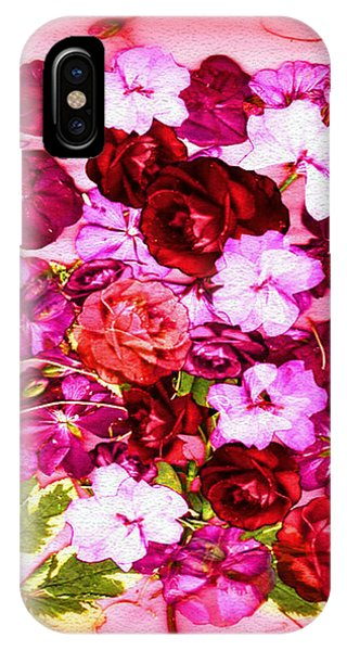 Valentine Flowers For You Phone Case by Ray Tapajna