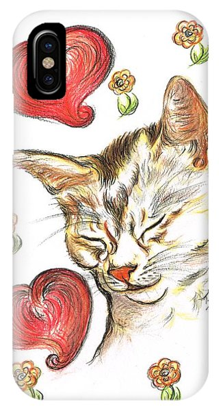 Valentine Cat IPhone Case