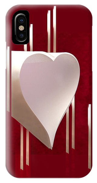 Valentine Paper Heart IPhone Case