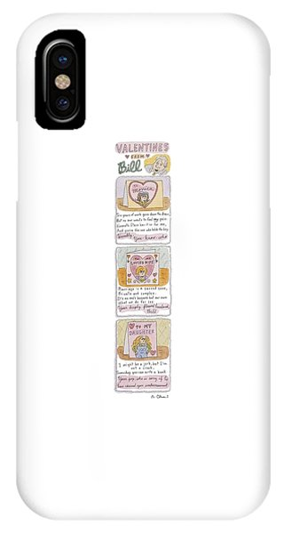 Hillary Clinton iPhone Case - Valentines From Billto Monica by Roz Chast