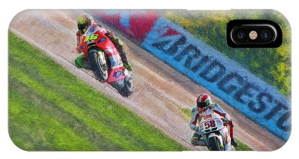 Valentino Rossi Leads Marco Simoncelli IPhone Case
