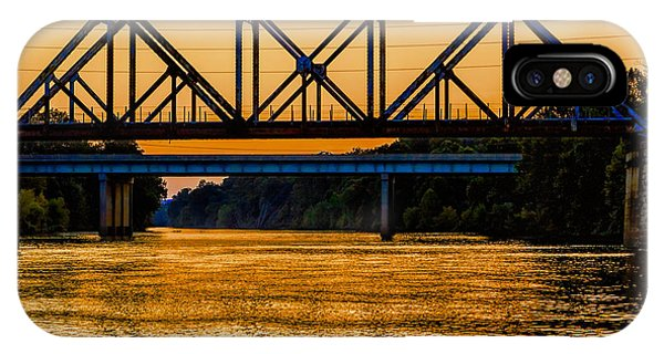 Valley Park Bridges In Technicolor IPhone Case