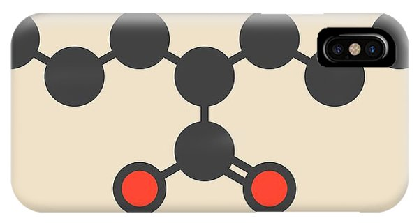 Valproic Acid Epilepsy Drug Molecule IPhone Case