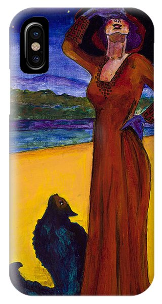 Van Goes With Mrs. Klimt On A Starry Night IPhone Case