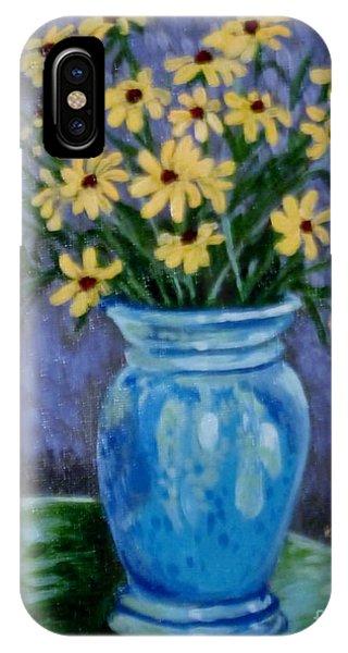 Van Gogh-ish Flowers In A Vase IPhone Case