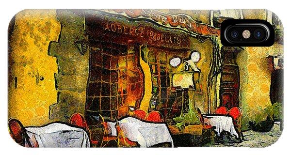 Van Gogh Style Restaurant IPhone Case