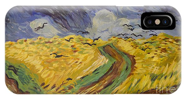 Van Gogh Wheat Field With Crows Copy IPhone Case