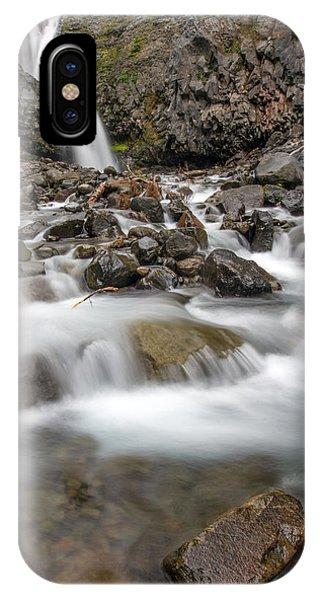 Van Trump Falls In Mount Rainier National Park IPhone Case