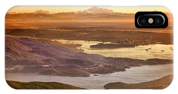 Vancouver And Mt Baker Aerial View IPhone Case