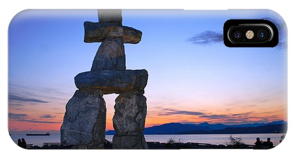 Vancouver Bc Inukshuk Sculpture IPhone Case