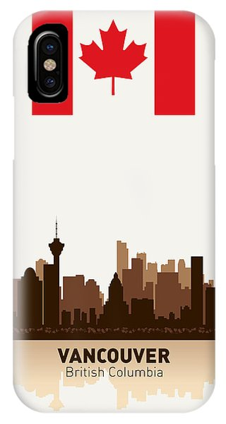 Vancouver Skyline iPhone Case - Vancouver British Columbia Canada by Daniel Hagerman