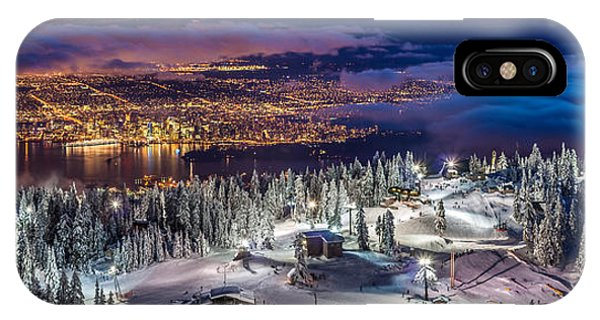 IPhone Case featuring the photograph Vancouver City Panorama From Grouse Mountain  by Pierre Leclerc Photography