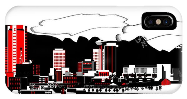 Vancouver City iPhone Case - Vancouver Graphic Illustration by Mario Carini