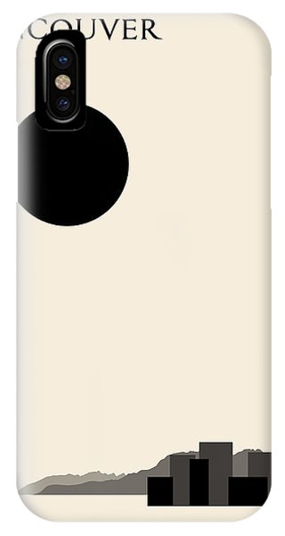 Vancouver City iPhone Case - Vancouver Minimalist Travel Poster by Finlay McNevin