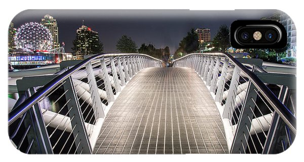 Vancouver Olympic Village Canoe Bridge - By Sabine Edrissi  IPhone Case