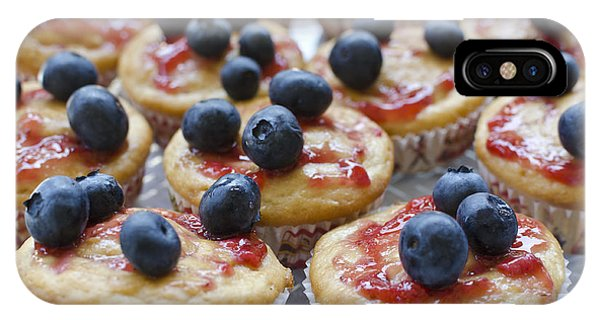 Vanilla Cupcakes With Fresh Blueberries IPhone Case