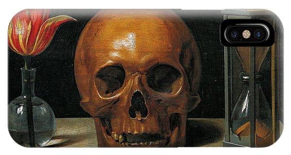 Skull iPhone Case - Vanity by Philippe de Champaigne