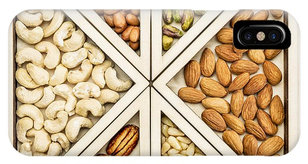 Variety Of Nuts Abstract IPhone Case