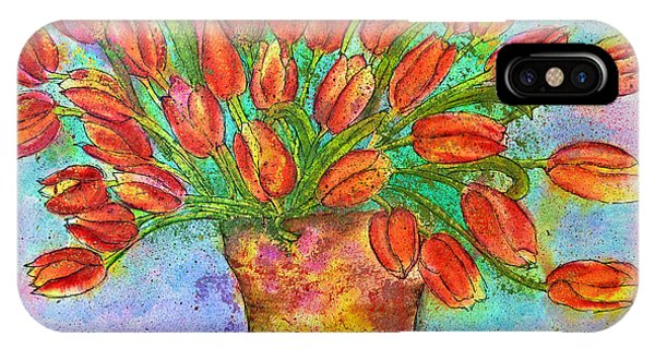Vase Of Tulips Phone Case by Dion Dior