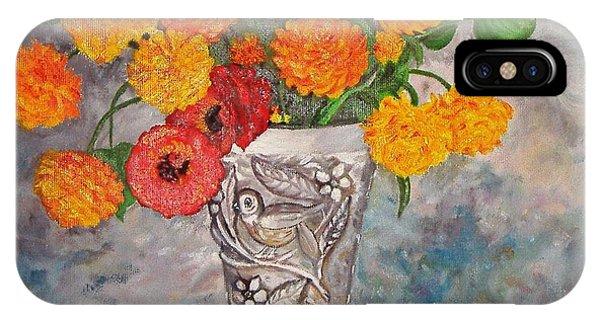 Vase With Bird IPhone Case
