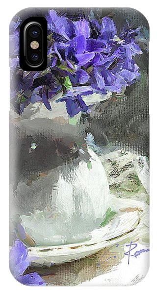 Vase With Violets IPhone Case