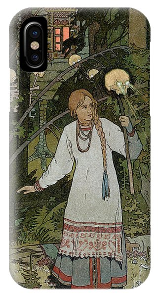 Ghost iPhone Case - Vassilissa In The Forest by Ivan Bilibin