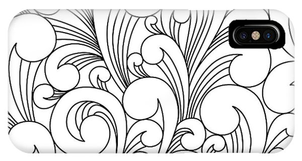 Funky iPhone Case - Vector Black And White Pattern With by Maria galybina