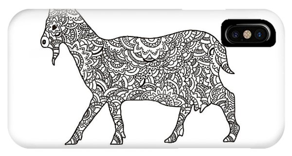 Adult iPhone Case - Vector Boho Goat For Coloring Book For by Shelest Yuliia
