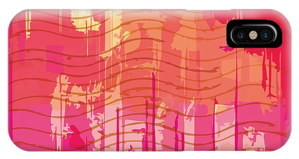 Violet iPhone Case - Vector Grunge Background With Space For by Iulias