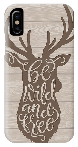 Vector Illustration Of Deer Silhouette Phone Case by Bariskina