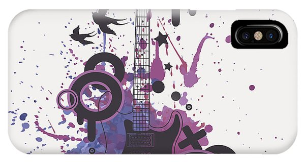 Musical iPhone Case - Vector Illustration Of Electric Guitar by Eireen Z