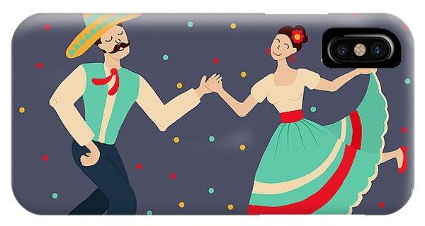 Couple iPhone Case - Vector Illustration Of Happy Dancing by Los ojos pardos