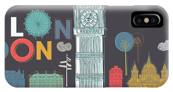 Famous People iPhone Case - Vector London Symbols by Lavandaart